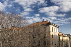 Milan (Italy): old restored houses Royalty Free Stock Photos