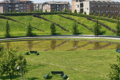 Milan Italy : parc chez Portello Photo stock