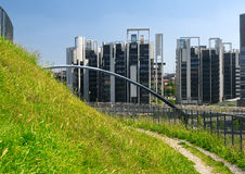 Milan Italy: park in Portello Royalty-vrije Stock Afbeelding