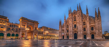 Milan, Italy: Piazza del Duomo, Cathedral Square royalty free stock images