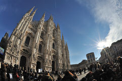 Milan, Italy - Piazza Duomo - Cathedral Stock Photos