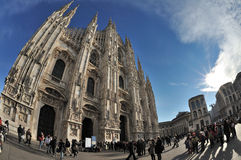 Milan, Italy - Piazza Duomo - Cathedral Stock Images