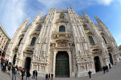 Milan, Italy - Piazza Duomo - Cathedral Stock Photo