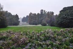 Milan Italy: Sempione park at fall Stock Image
