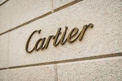Milan, Italy - September 24, 2017: Cartier store in Milan. Fash stock image