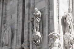 Milan, Italy - September 05, 2017: Milan Cathedral, Duomo di Milano - the gothic cathedral church of Milan. Royalty Free Stock Photos
