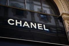 Milan, Italy - September 24, 2017: Chanel store in Milan. Fashi stock photo