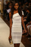MILAN, ITALY - SEPTEMBER 20: A model walks the runway during the Genny show Royalty Free Stock Image