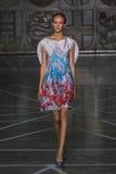 MILAN, ITALY - SEPTEMBER 20: A model walks the runway during the Mila Schon show Royalty Free Stock Photos