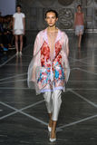 MILAN, ITALY - SEPTEMBER 20: A model walks the runway during the Mila Schon show Royalty Free Stock Image