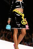 MILAN, ITALY - SEPTEMBER 18: A model walks the runway during the Moschino show. As part of Milan Fashion Week Womenswear Spring/Summer 2015 on September 18 stock photography