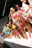 MILAN, ITALY - SEPTEMBER 18: Models walk the runway finale during the Moschino show Stock Image