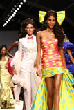 MILAN, ITALY - SEPTEMBER 18: Models walk the runway finale during the Moschino show Royalty Free Stock Image