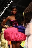 MILAN, ITALY - SEPTEMBER 18: Models walk the runway finale during the Moschino show Royalty Free Stock Photography
