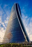 The new skyscraper Generali Headquarter designed by Zaha Hadid Architects at Citylife district. Stock Photo