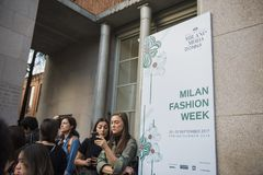 Milano Fashion Week Royalty Free Stock Photos