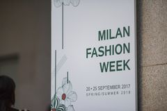 Milano Fashion Week Royalty Free Stock Photography
