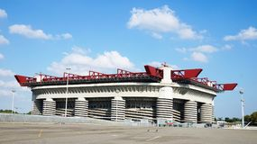 MILAN, ITALY - SEPTEMBER 13, 2017: Stadio Giuseppe Meazza commonly known as San Siro, is a football stadium in the San Siro distri. Ct of Milan, Italy, which is Royalty Free Stock Photo