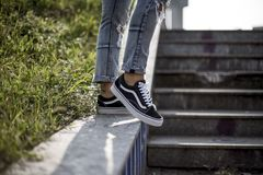 Vans Old Skool shoes Royalty Free Stock Image