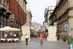 Milan Italy Street View Stock Image