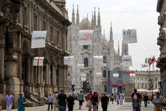 Milan Italy Street View Royalty Free Stock Photo