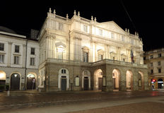 Milan Italy, teatro alla scala. La Scala opera house, The most famous italian theatre in milan Royalty Free Stock Photo