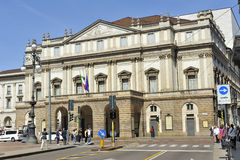 Milan, Italy, Teatro alla Scala - Scala Theatre and Music Hall Royalty Free Stock Photography