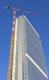 Milan Italy, torre isozaky bajo construcción Fotos de archivo libres de regalías