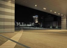 MILAN, 18 JANUARY 2018: Cityscape nocturne in Portello, Milan, new modern area. New modern area from Milano Portello. Milan, Lombardy, Italy. Nightscape.Modern Royalty Free Stock Photography
