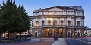 Milan La Scala Pan Royaltyfri Fotografi
