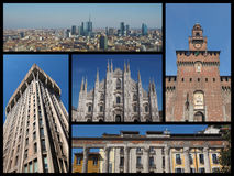 Milan landmarks collage Stock Photography