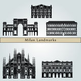 Milan landmarks and monuments Stock Photography