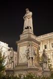 Milan - Leonardo da Vinci memorial Stock Images