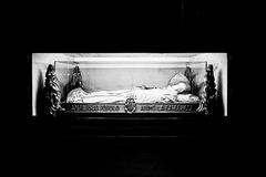 Milan Lombardy italy - April 07 2014: Duomo Milan, mortal remains of Cardinal Ferrari Royalty Free Stock Image