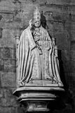 Milan Lombardy italy - April 07 2014: Duomo Milan, Pope Pio XI statue Royalty Free Stock Photography