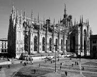 Milan-Lombardy-Italy -april 07 2014: Duomo Milan renovation construction Stock Image