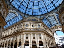 Milan - Coverage of the Gallery. Milan, Lombardy, Italy - April 27, 2016: the Vittorio Emanuele II Gallery. Built between 1865 and 1876 in neo-Renaissance style Royalty Free Stock Photography
