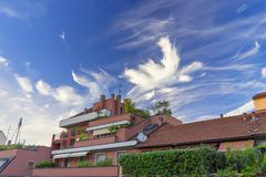 Milan, Italy: cloudscape Royalty Free Stock Photography