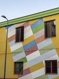 Colorful  house in Milan, Italy Stock Images
