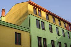 Colorful  house in Milan, Italy Royalty Free Stock Photo