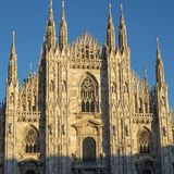 Milan: the Cathedral Duomo Stock Images