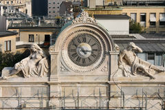 MILAN, LOMBARDY/ITALY - FEBRUARY 23 : Old clock in Milan on Febr Stock Image