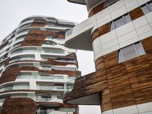 Hadid buildings at Citylife, Milan Stock Photos