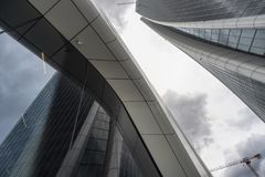 Hadid tower at Citylife, in Milan. Milan, Lombardy, Italy: the modern Hadid tower at Citylife Royalty Free Stock Photos