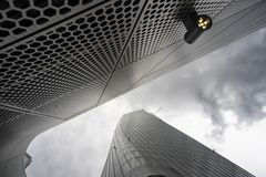 Hadid tower at Citylife, in Milan. Milan, Lombardy, Italy: the modern Hadid tower at Citylife Royalty Free Stock Images