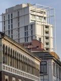 Old and modern buildings in Milan. Milan, Lombardy, Italy: old and modern buildings along via Lomazzo Royalty Free Stock Photos