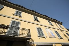 Milan Italy: typical old residential building Stock Images