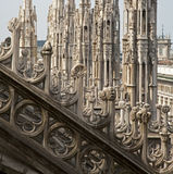 Milan - look from roof of cathedral Stock Photos