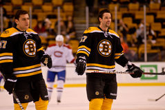 Milan Lucic and Benoit Pouliot Boston Bruins Stock Image