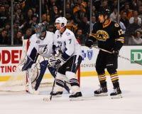 Milan Lucic, Boston Bruins en avant Image stock